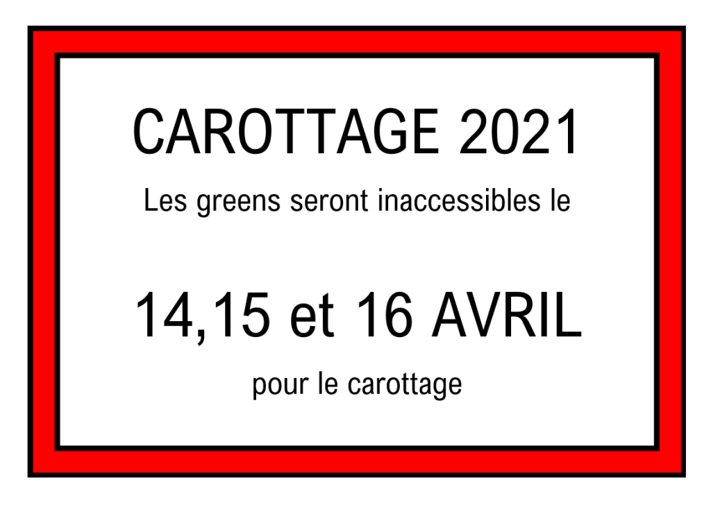 Carottage 2021
