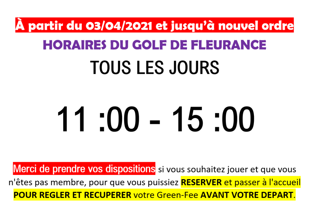 Horaire covid internet